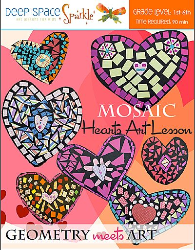 Mosaic Heart Art Lesson Plan: Geometry meets Art