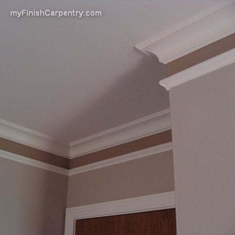 Molding: Great idea to add a touch of color to a room.  Love this!