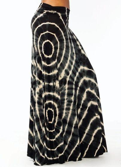 tie-dye maxi skirt. WOW!!