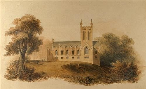 I like this for the same reason as image 3. Architectural watercolours of Tullamore Church, Offaly (1) circa 1808.
