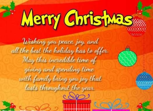 Wishing You Merry Christmas Greetings Message E-Cards |  Wishing You Christmas Festival Greeting Message Images | Kid Poems And Messages - Daily Short Quotes