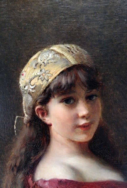 Konstantin Makovsky art Portrait of a Girl