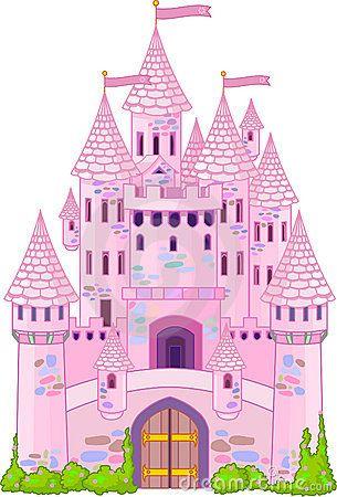 Castillo mágico, rosado.