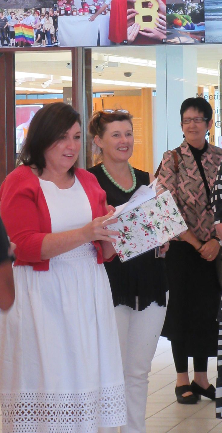 Leeanne Enoch MP Queensland at Murri Christmas, State Library of Queensland 2016