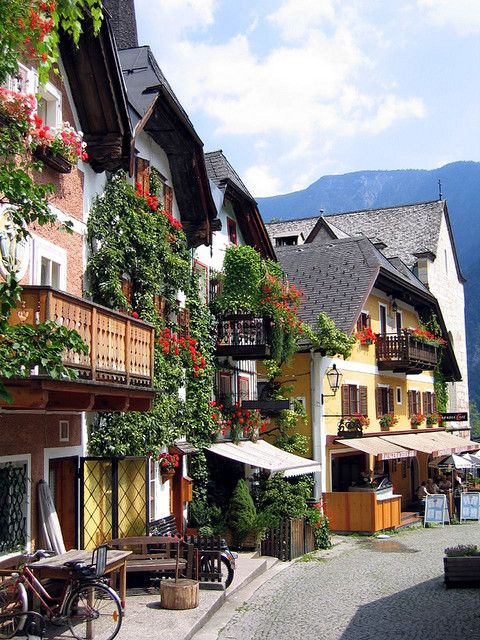 Hallstat town centre ,Austria