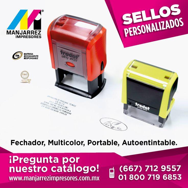 Sellos personalizados Fechador Multicolor Portable y autoentintable