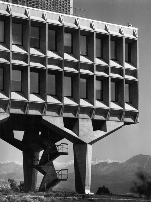 IBM LA GAUDE RESEARCH CENTRE | LA GAUDE | PROVENCE-ALPES-CÔTE D'AZUR | FRANCE: *1962; Architect: Marcel Breuer* Photo: Guillemaut, property of MBA*