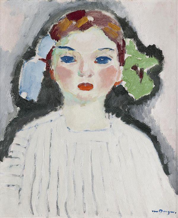 Kees van Dongen (1877-1968) Portret van Dolly/Meisje met strikken, 1909 Olieverf op doek 55 x 46 cm Gemeentemuseum Den Haag #KleurOntketend