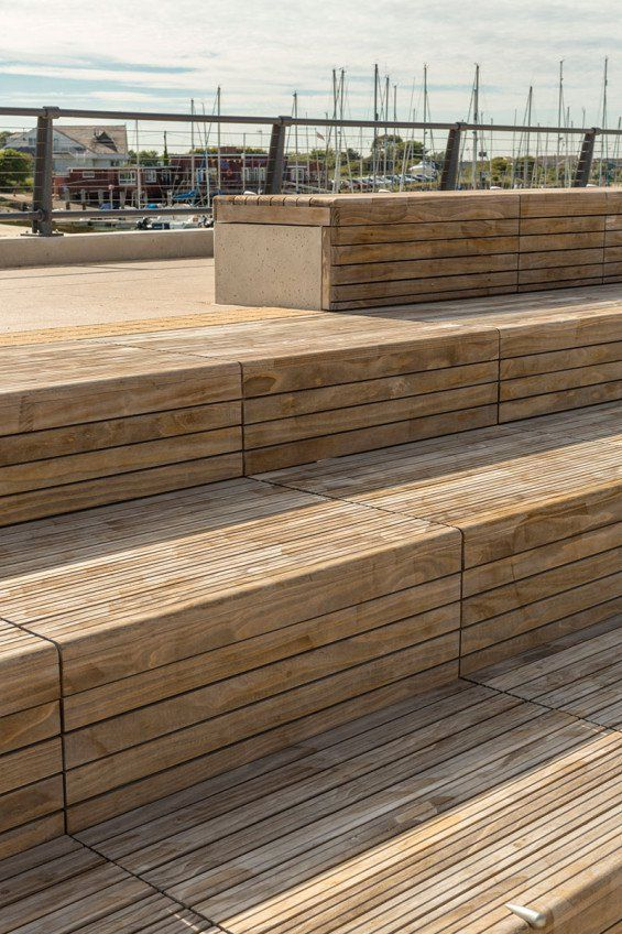 Wood Clad Seating Benches > LDA Design | East Bank, Littlehampton | World Landscape Architecture