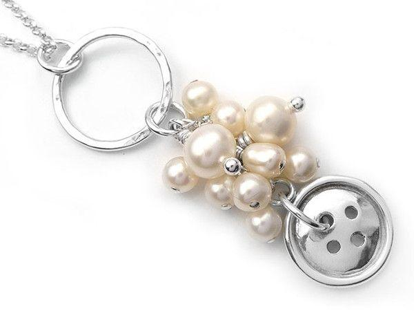 Silver Pendant - Button Cluster