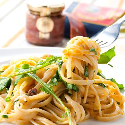 からすみと小葱のアンチョビルッコラパスタ by レシピ×食材専門店 レシプル at 2014-3-11