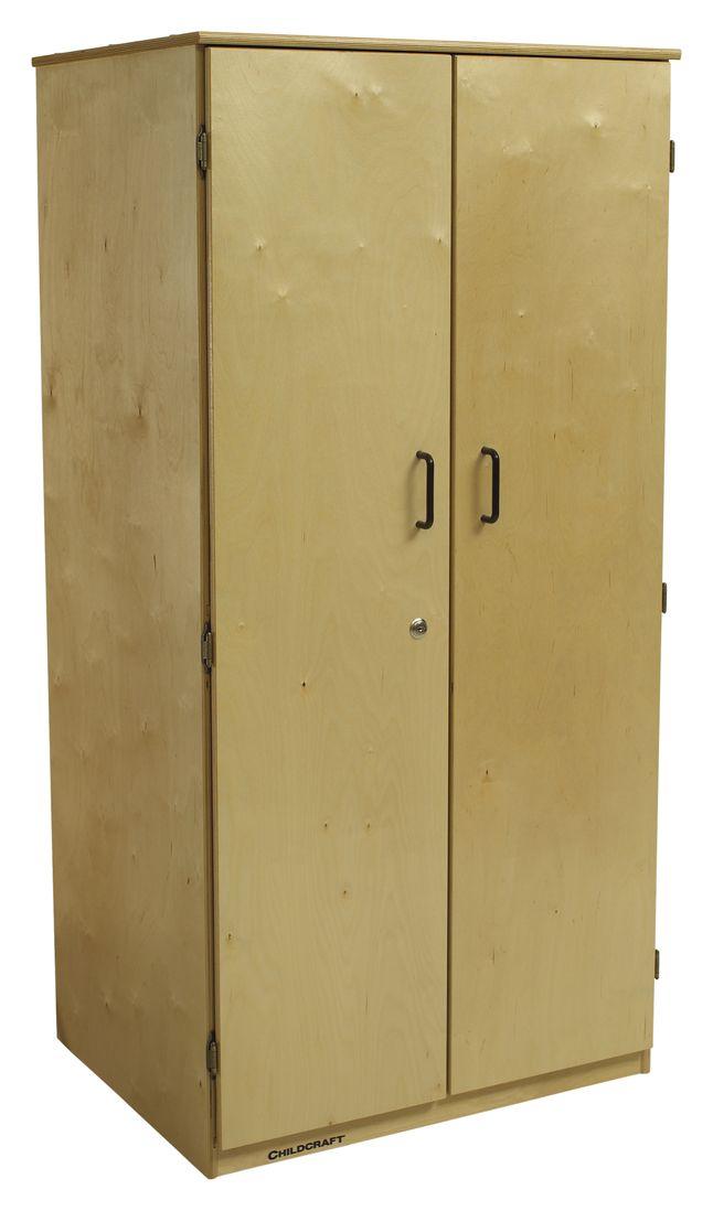 Childcraft Locking 2 Door Storage Unit 29 3 4 X 23 X 60 Inches Storage Door Storage Locking Storage Cabinet