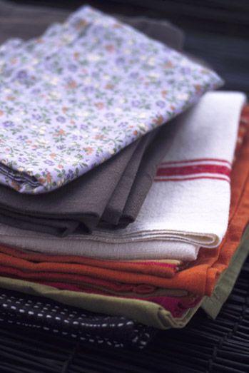 Serviettes en #tissu #violette #motif #fleur #flower #serviette