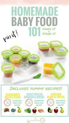 No need to buy a $200 baby food maker! Great for beginners, just use your blender and crockpot! Includes super easy yummy homemade baby food recipes!
