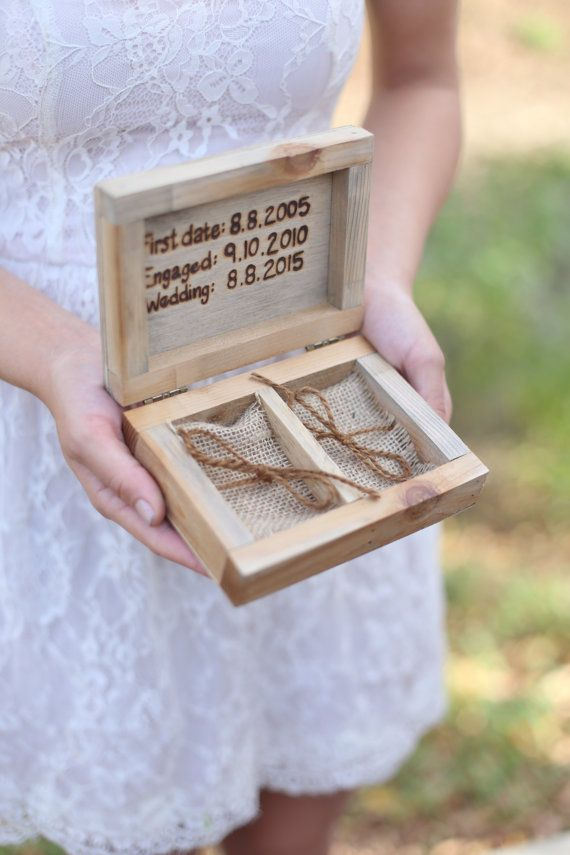 Personalized Rustic Ring Bearer Box Every Love by braggingbags