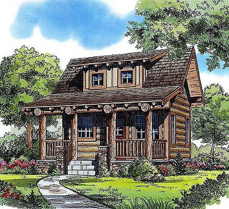 427 best awesome log home floorplans images on pinterest for One bedroom log cabin plans