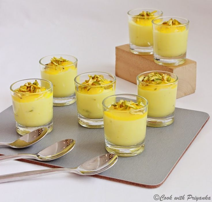 Cook with Priyanka: Mango Shrikhand   Custards, Puddings, Cold desser ...