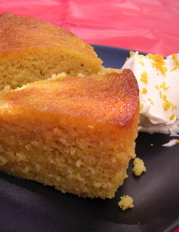 Clementine Cake (GF, DF). Can also try with uncooked Clementines, processed and left in fridge overnight