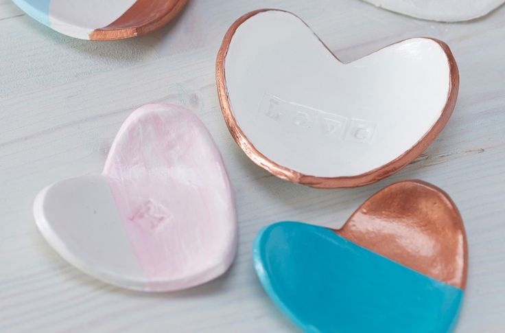 How to Make Air Dry Clay Heart Bowls #clay #heart #bowl                                                                                                                                                      More