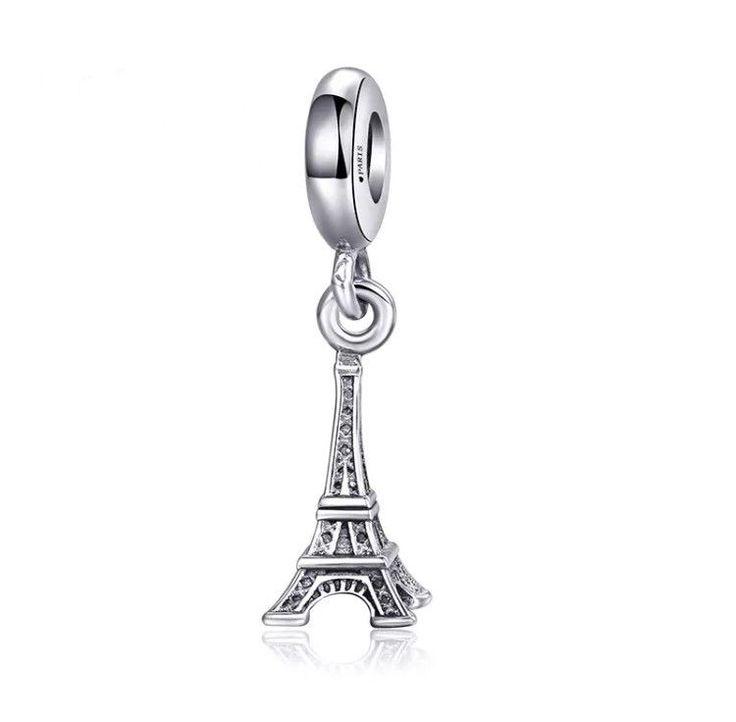 Pandora Eiffel Tower Charm 925 Sterling Silver Dangle