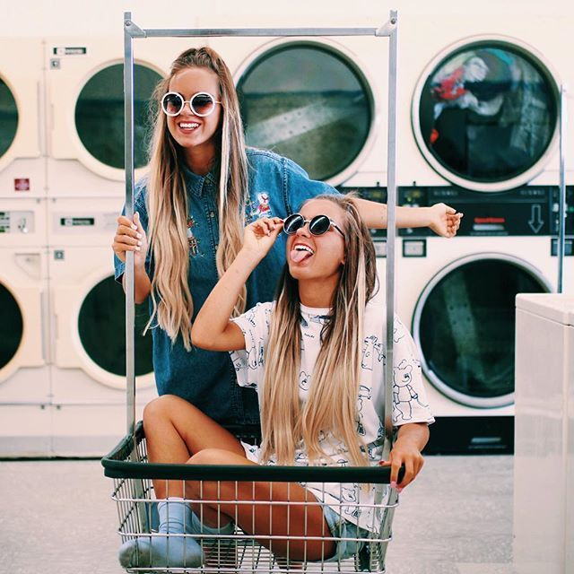 """laundry fun - hair extensions from @foxylocks code is """"Tess&Sarah"""" we wear honey spice ombré ❤️ go check out their seamless range! - Looking for Hair Extensions to refresh your hair look instantly? http://www.hairextensionsale.com/?source=autopin-thnew"""