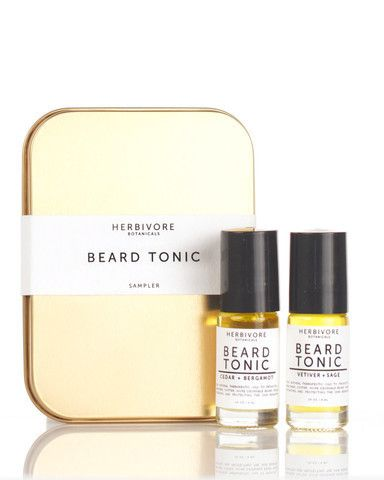 Gift Set of 2 Beard Tonics. These highly nourishing oil based Beard Tonics combine natural plant oils that promote a healthier looking beard while moisturizing the skin beneath. These include light, natural scents, that men (and their partners up close) can enjoy. $22