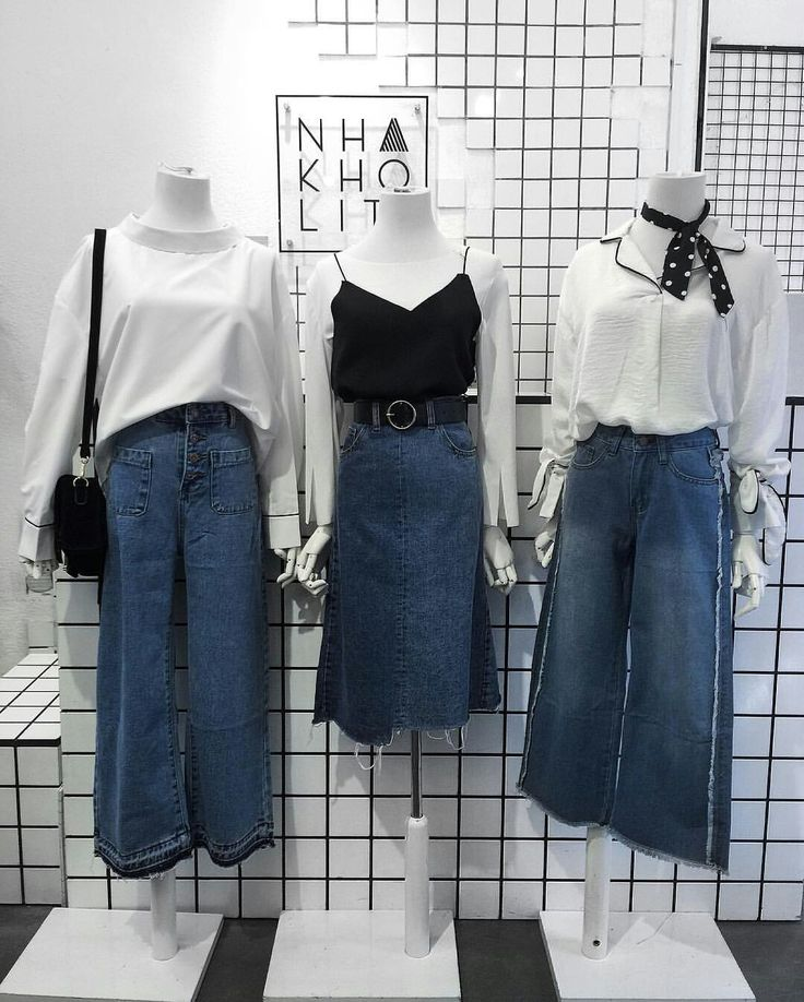 Saia jeans + Pantalonas jeans