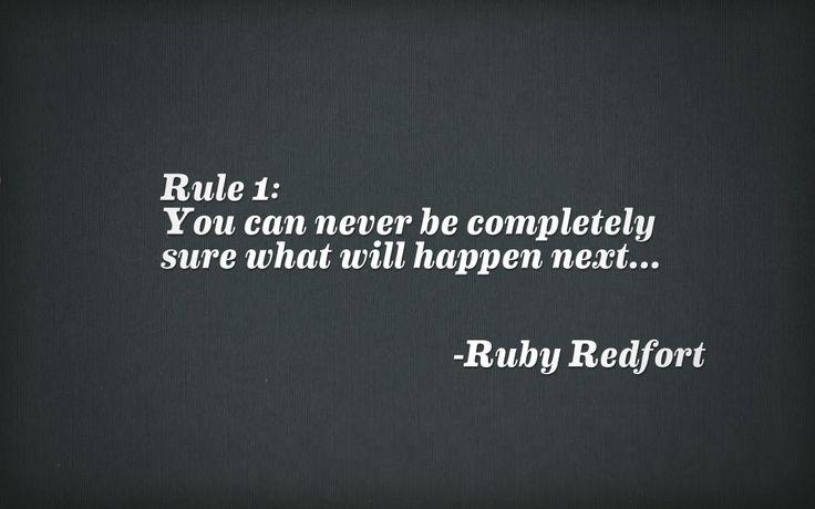 ruby redfort rule 1 - Google Search