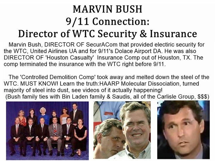 Marvin BUSH 9/11 Insider. HAARP 'Molecular Dissociation' disintegrates steel, see videos.