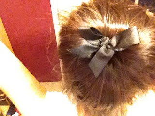 Little hair bow. #sockbun #hair #tutorial #cabello #espanol
