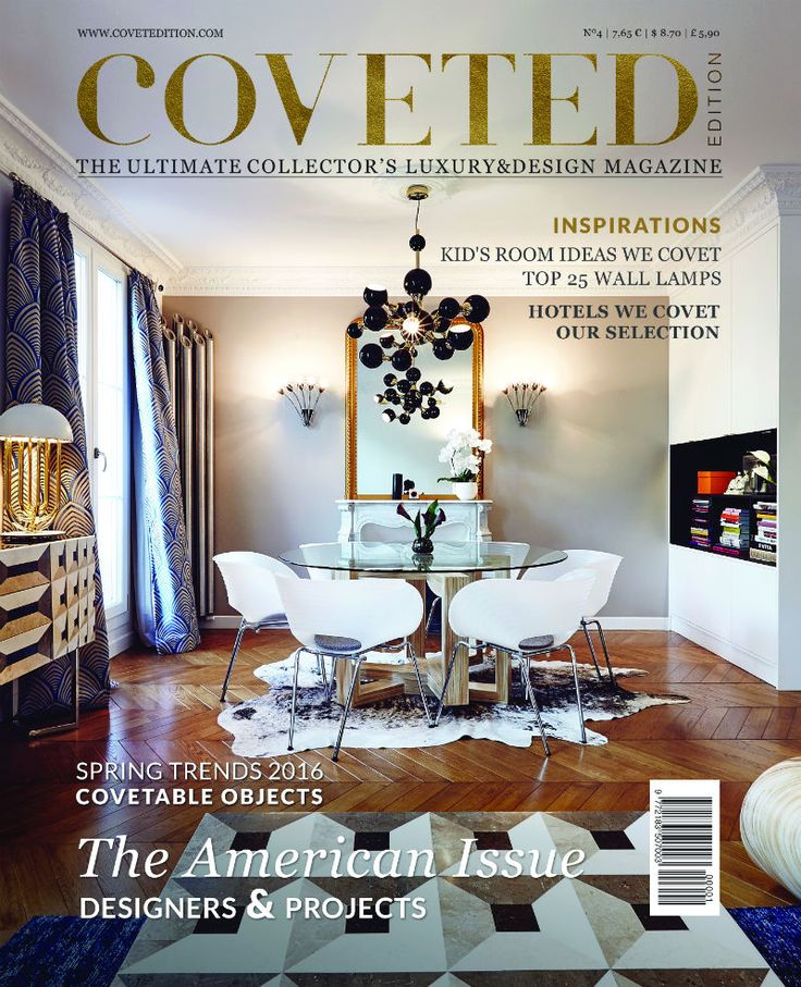 Our Coveted Magazine 4th edition covet with a project by @ruemonsieurpari  with lamps by @delightfulll  See more at: www.covetedition.com #CovetedMagazine #ruemonsieurparis #delightfull #interiordesign #interiors #magazine