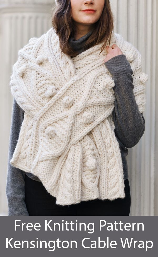 Self Fastening Scarves and Shawls Knitting Patterns In the