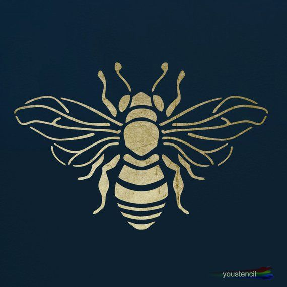 Bumble Bee Stencil for Walls, Furniture and Art ST101