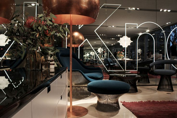 @KnollDesign Europe Xmas 2014 special display in collaboration with OpinionCiatti - #LAlampada copper leaf design Lapo Ciatti at Knoll International France in Paris photo courtesy by vandersandestudio