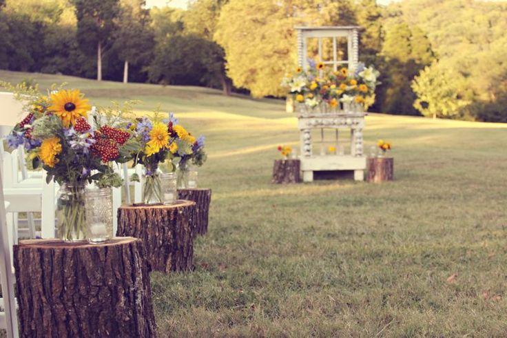Dites oui à ces décorations de mariage rustique