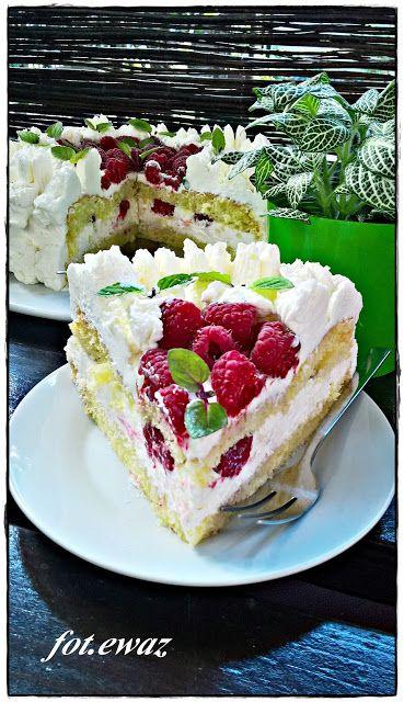 Ewa w kuchni: Tort malinowy