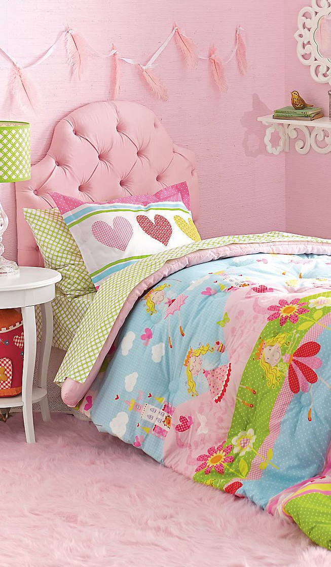 Princess Playtime #Girls Bedding #Kids Rooms love the breadspread , not the pink everywhere though