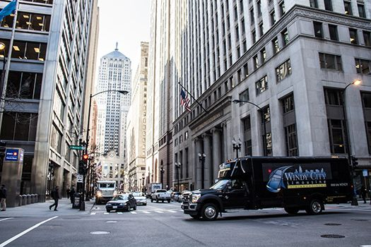 Windy City Limos in the streets.