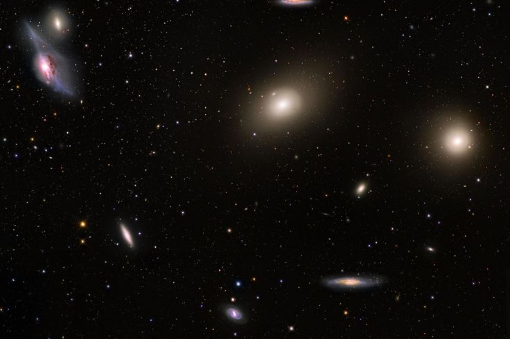 With its heart lying about 70 million light years distant, the Virgo Cluster contains over 2,000 galaxies, and has a noticeable gravitational pull on the galaxies of the Local Group of Galaxies surrounding our Milky Way Galaxy.