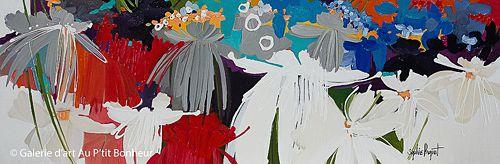 Sophie Paquet, 'Can Stop This Feeling!', 20'' x 60'' | Galerie d'art - Au P'tit Bonheur - Art Gallery