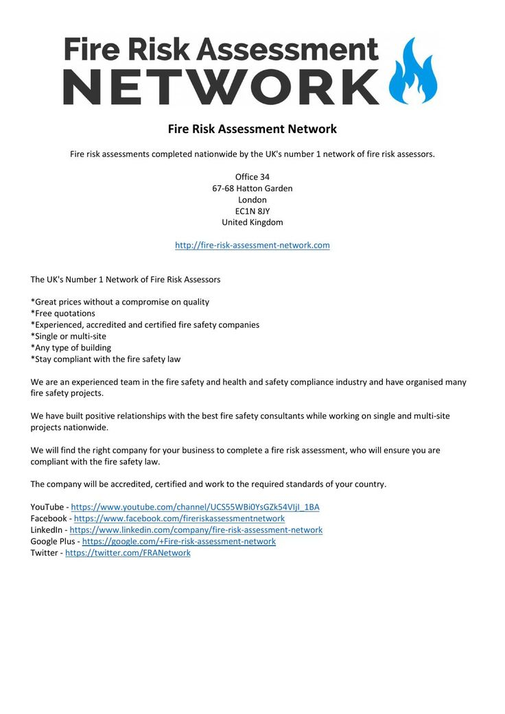 Best 25+ Fire risk assessment ideas on Pinterest Health and - product risk assessment