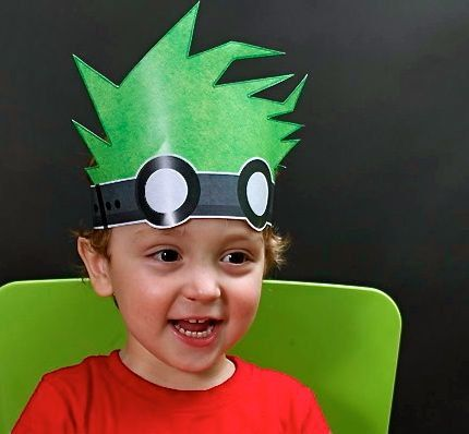 Mad Science Party Hat - printable from Spaceships and Laser Beams -- couldn't resist repinning my little guy :-)