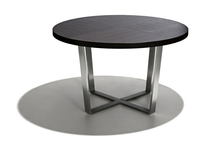 Maryland - Runt matbord i högblankt vitt trä eller svart fanér.