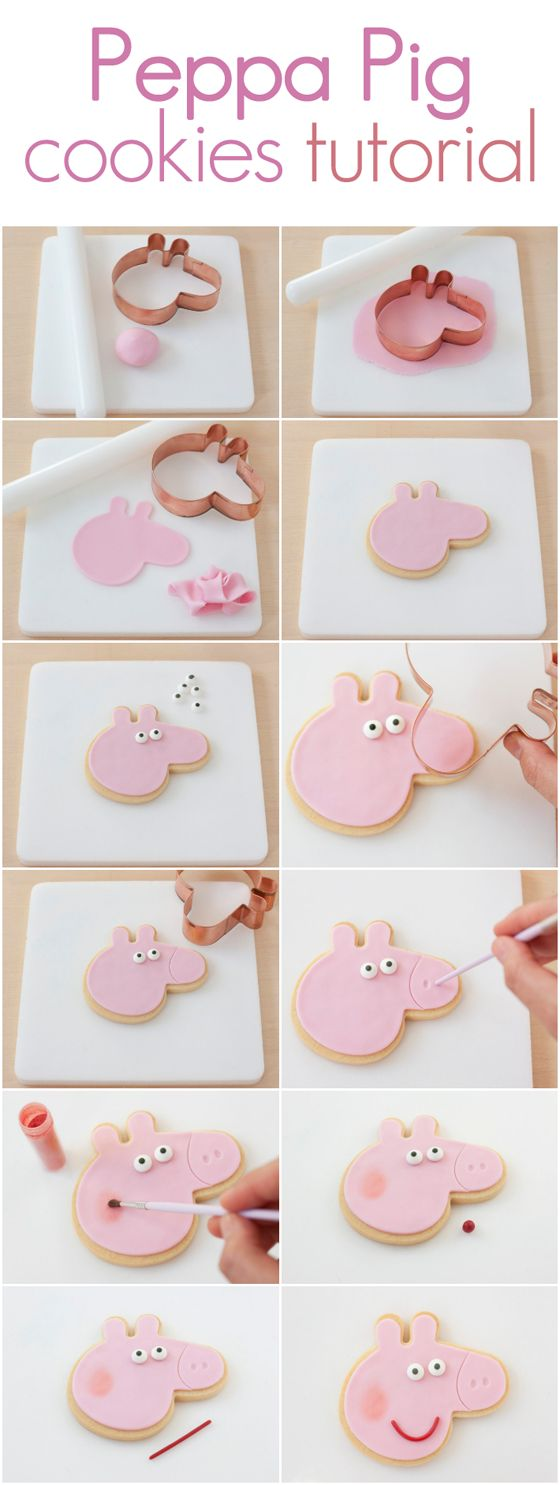 Pe peppa pig online coloring pages - Peppa Pig Cookies Tutorial Http Www Azucarillosdecolores Com 2014