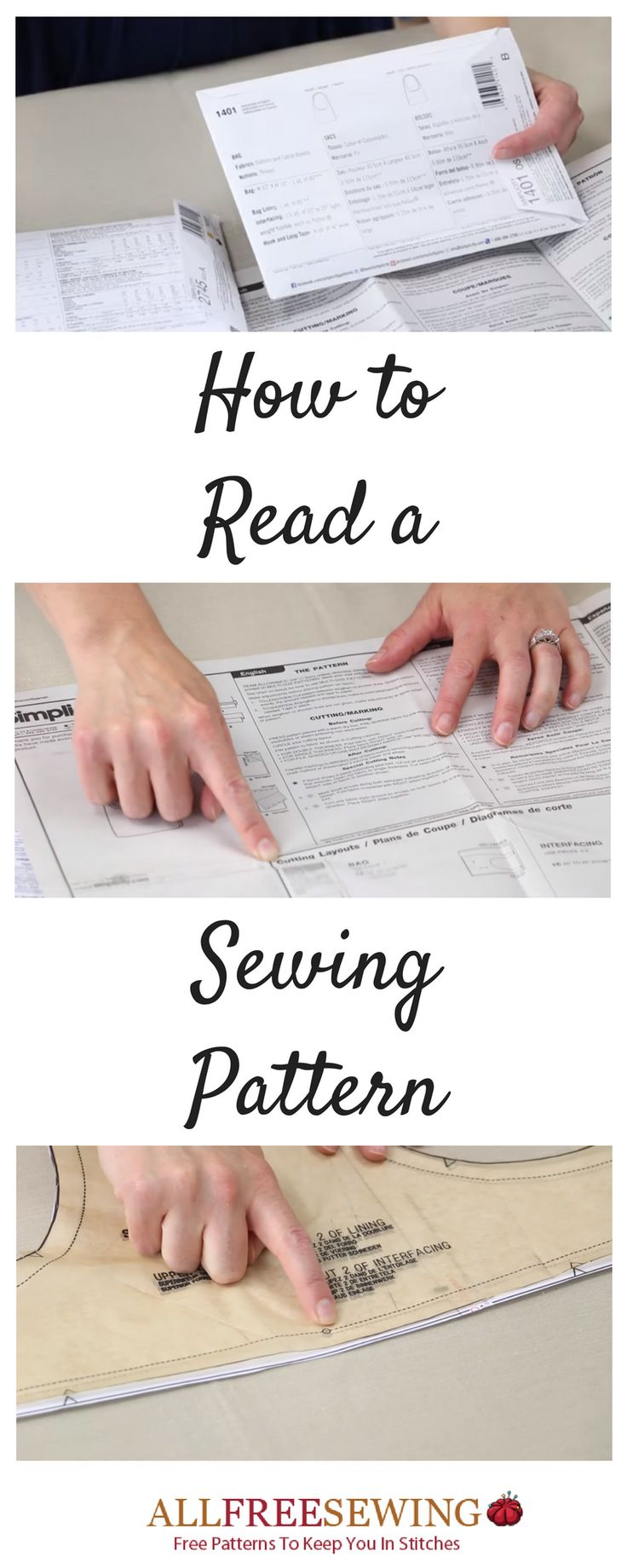 Understand the details of reading a sewing pattern, learn the symbols, and more in this NEW article.