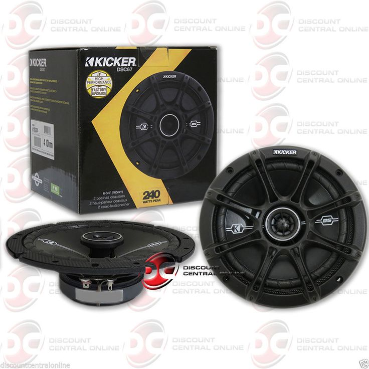 Car Speakers and Speaker Systems: Brand New Kicker 6.75-Inch 2-Way Car Audio Coaxial Speakers (Pair) 6-3/4 -> BUY IT NOW ONLY: $49.99 on eBay!