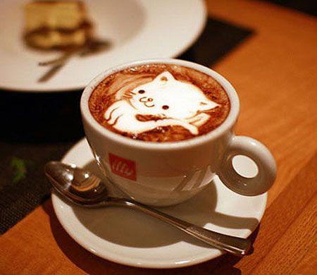 Cat latte art   #sachet #cafe #coffee #bags #sacs #emballage #souple #cafe #art #cooffee #art