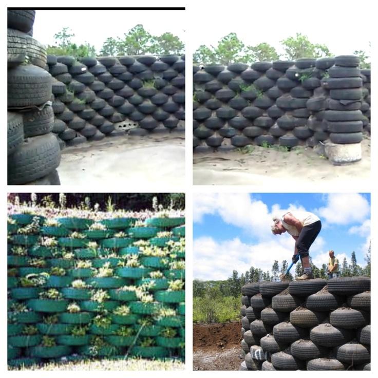 Tire Fence Kewl Gardening Amp Patio Fun Pinterest The
