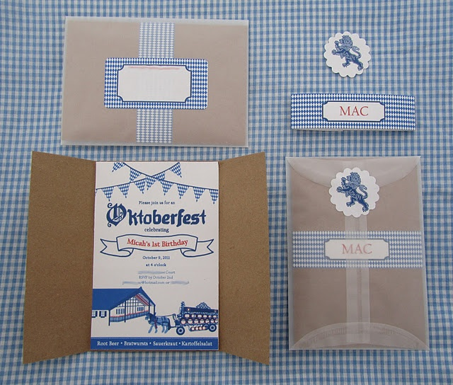 Micah's 1st Birthday Party Invites, oktoberfest invitations Munich