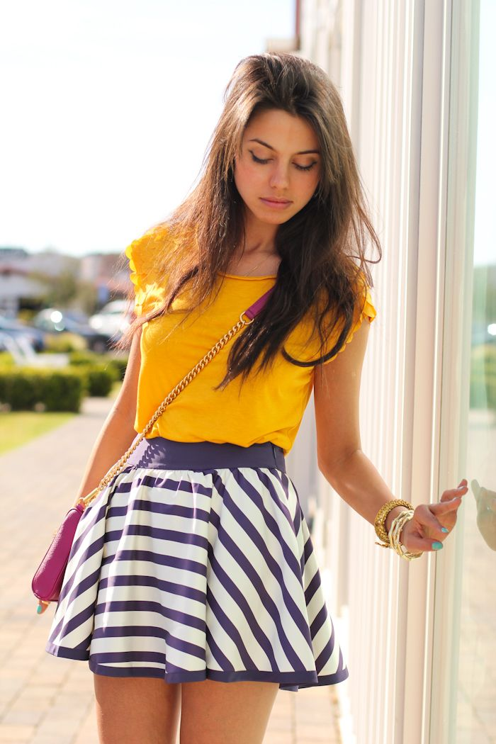yellow yellow stripes and stripes on